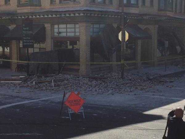 More damage in downtown Napa, CA