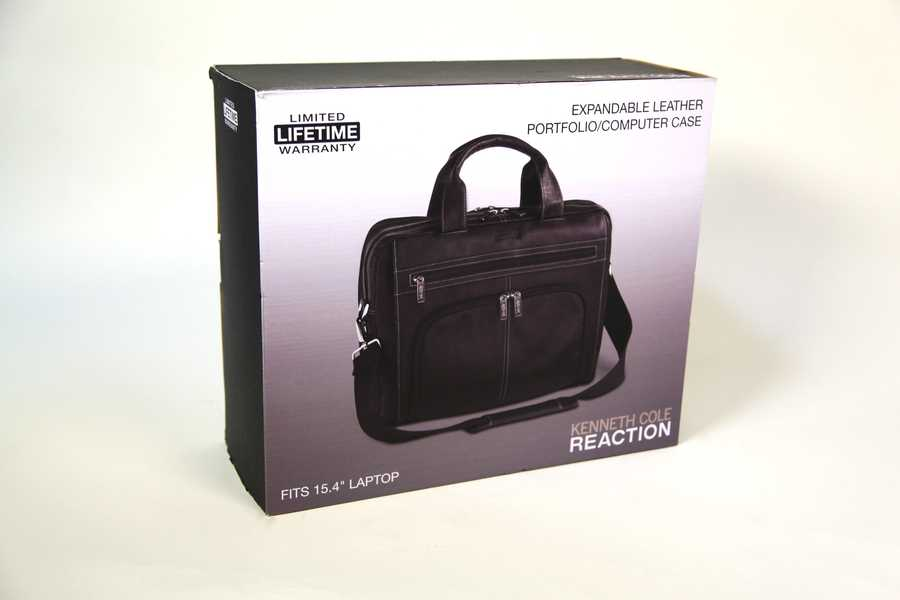 Kenneth Cole Reactionleather portfolio and computer case, gifted by Macy's