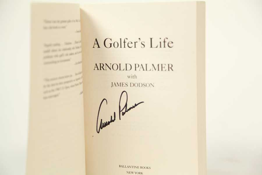 "Autographed copy of ""A Golfer's Life"" by Arnold Palmer, courtesy of Arnold Palmer Enterprises - CLICK HERE TO BID NOW"