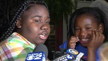 Naquala Crosby safely escaped a fire at her family's home, thanks to an assist from little sister Nicole, 8, who woke her up in the middle of the night.