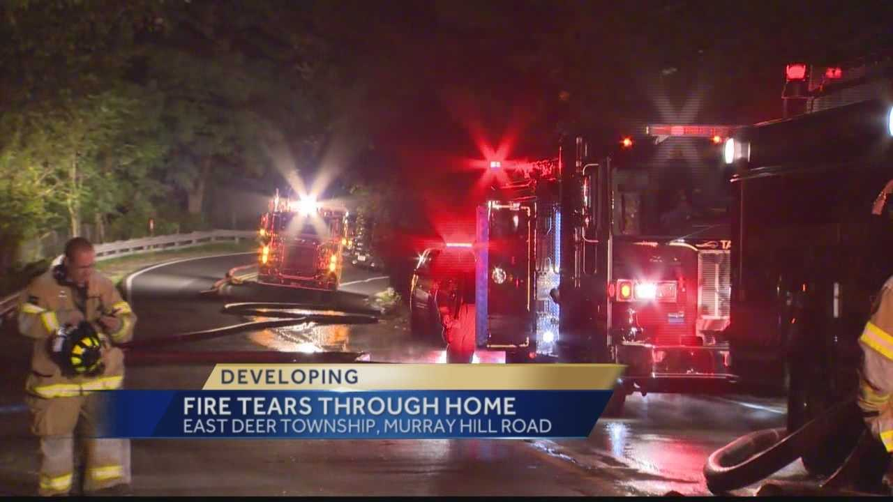 Fire tears through East Derry Township home