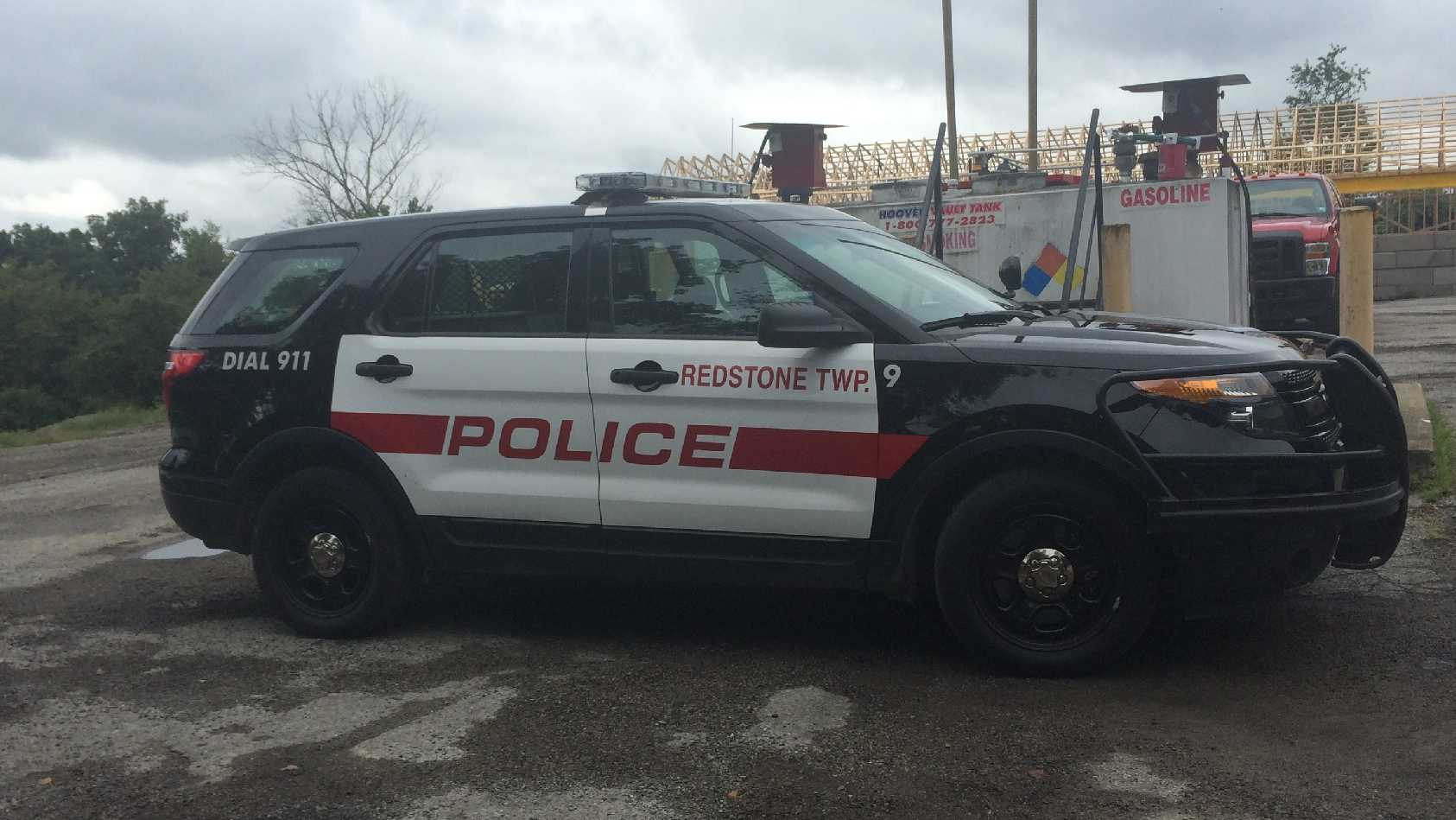 A Redstone Township police vehicle.