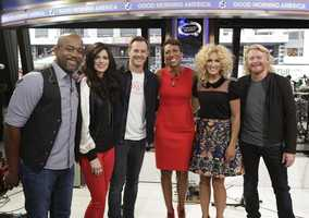 """The nominees for 48th Country Music Association Awards were announced live by Darius Rucker and the members of Little Big Town on """"Good Morning America,"""" 9/3/14, airing on the Pittsburgh's WTAE Channel 4.. (ABC/Heidi Gutman)"""