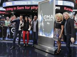 """The nominees for 48th Country Music Association Awards were announced live by Darius Rucker and the members of Little Big Town on """"Good Morning America,"""" 9/3/14, airing on the Pittsburgh's WTAE Channel 4.."""