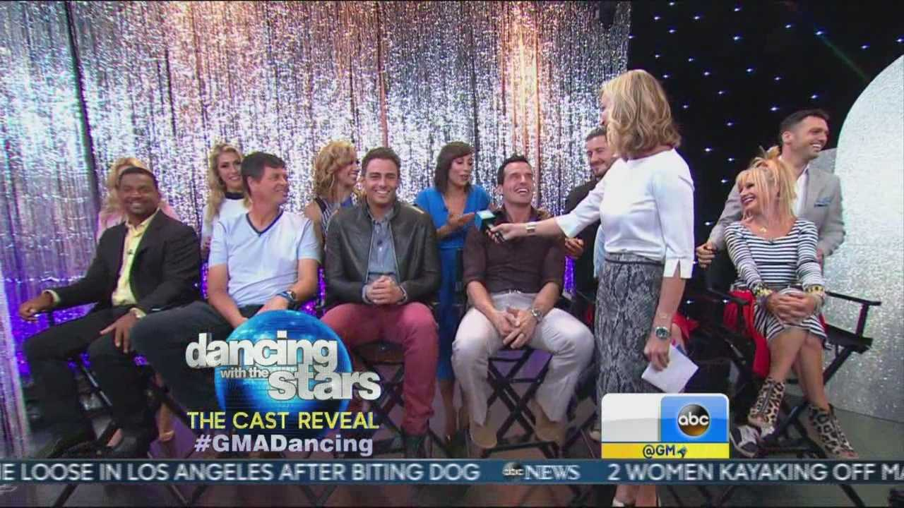 "Cast members of Season 19 of ""Dancing with the Stars"" were revealed during ""Good Morning America."""