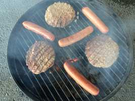 Can't go wrong with the ever faithful hot dogs and hamburgers