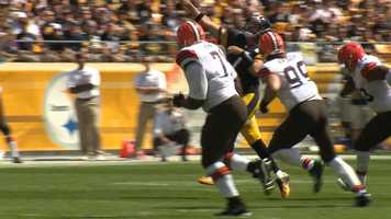 Ben extends play, Touchdown pass to Antonio Brown