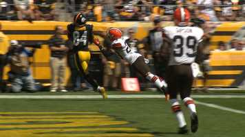 Brown with the Touchdown catch