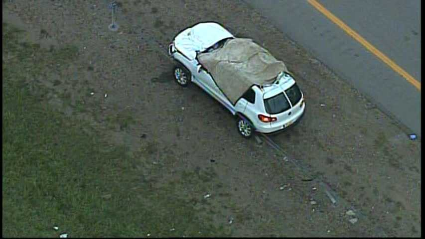 The driver of an SUV died in the crash on Interstate 79. His passenger was injured. State police are investigating.