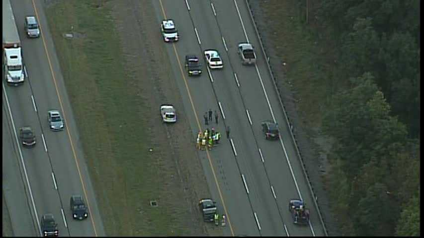 A crash on Interstate 79 in Aleppo Township was causing large traffic backups Monday morning.