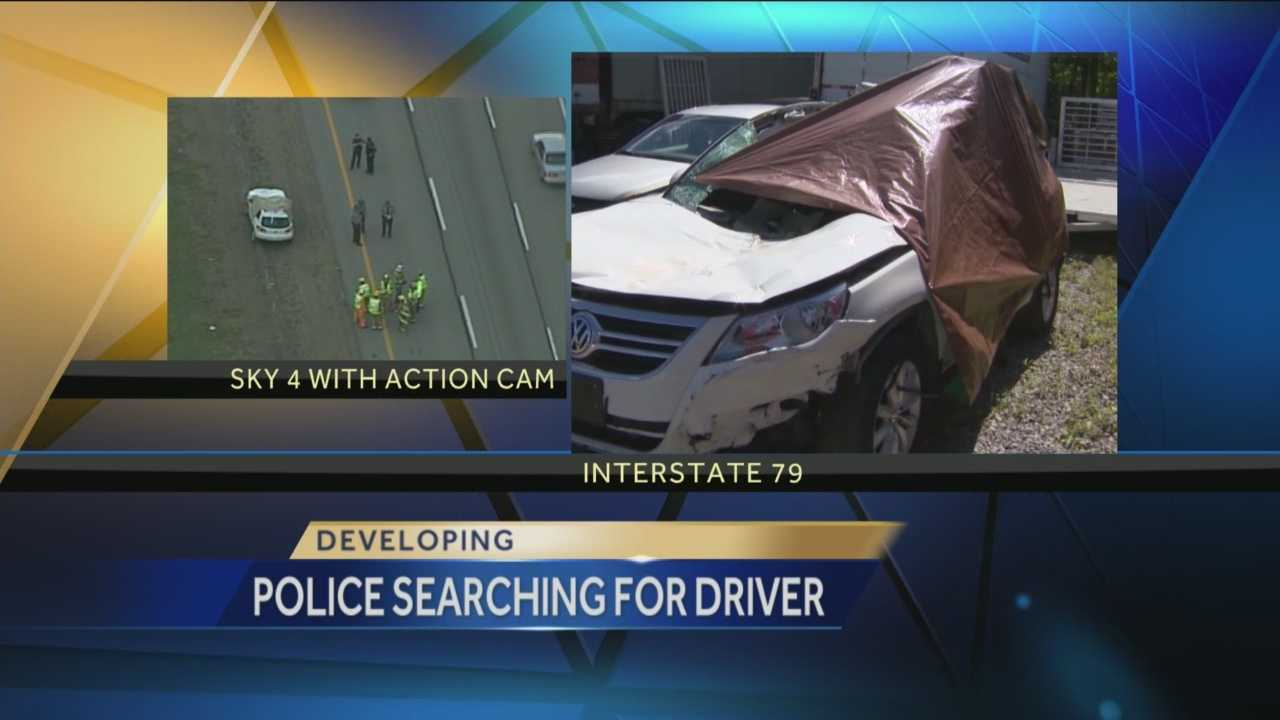 Pittsburgh's Action News 4's Kelly Frey has the latest on the investigation and search for the missing driver of a tractor trailer that lost a set of tires on I-79 that resulted in the death of another driver.