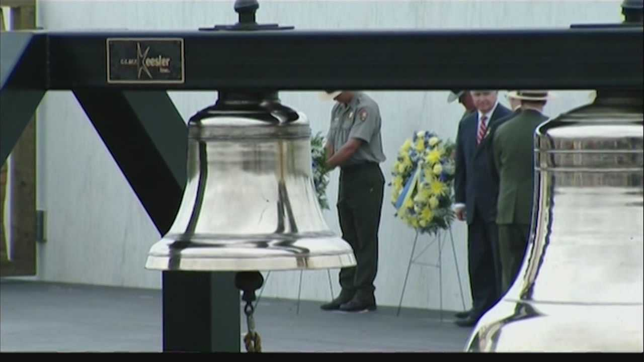 A bell is tolled every year on Sept. 11 at the Flight 93 memorial during a ceremony to remember the victims of the 9/11 terrorist attacks.