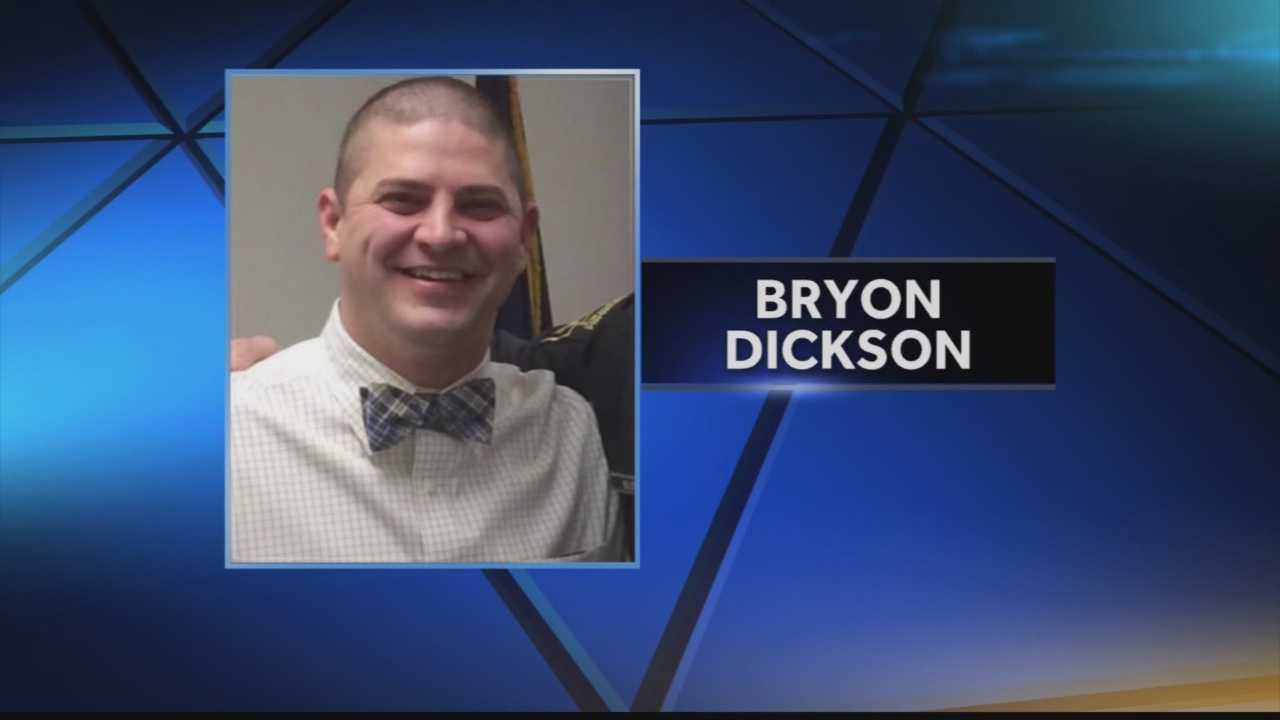 Cpl. Bryon Dickson was shot to death outside a Pennsylvania State Police barracks in Blooming Grove.
