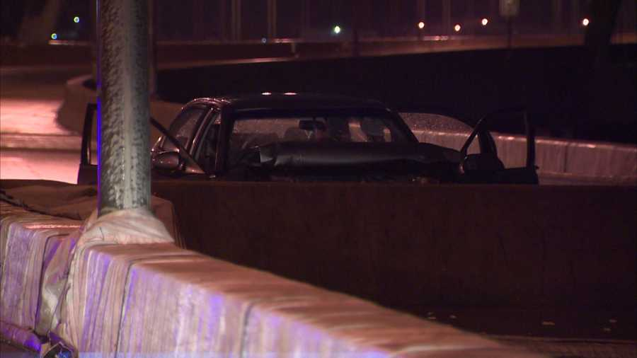 A 25-year-old woman died in a crash on the Birmingham Bridge.