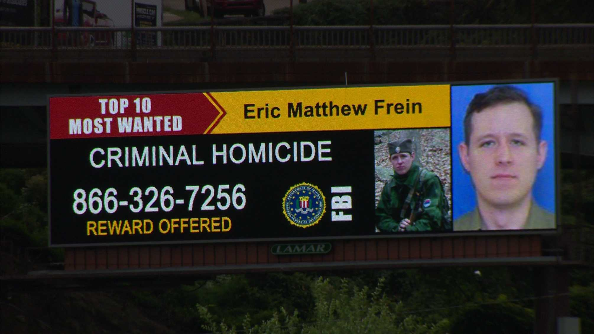 Eric Frein was added to the FBI's most wanted list. A large reward is being offered for his capture.