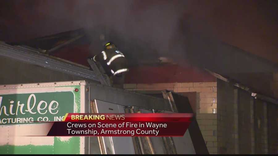 The fire on Slaughter House Road was reported shortly after 1:30 a.m.