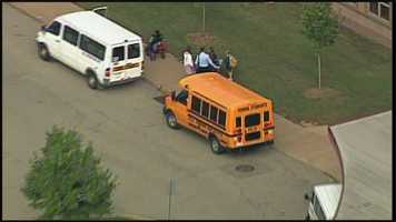 Images from Sky 4 over the schools being evacuated by the Pittsburgh Public Schools District after threats were made.