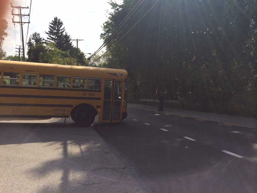 Images from the school evacuations on the ground