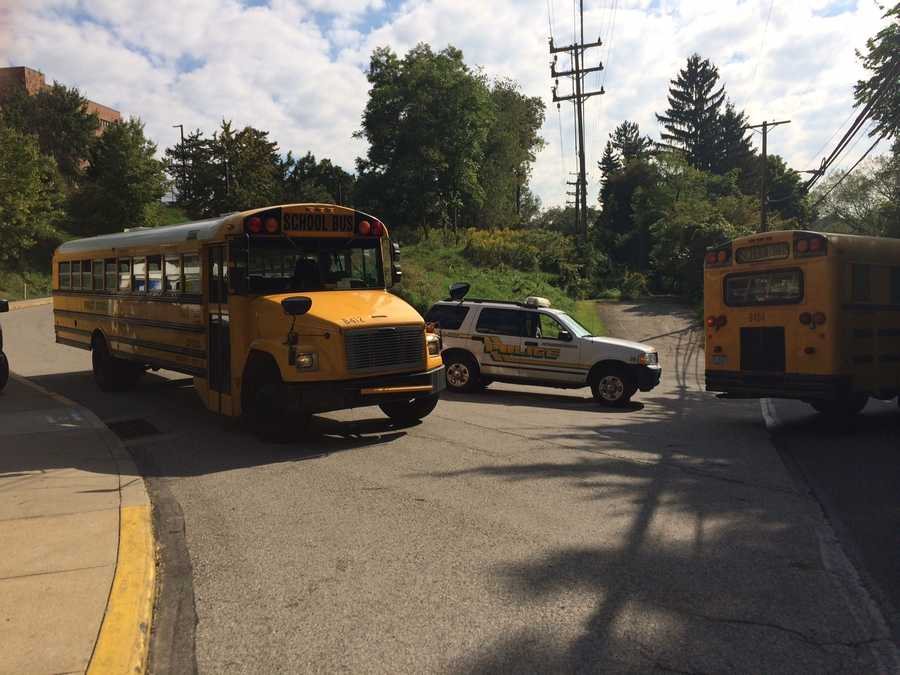 Students from the evacuated West Liberty and South Brook schools were taken to Brashear High School.