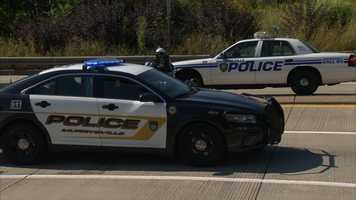 Police cars from Murrysville and Monroeville.