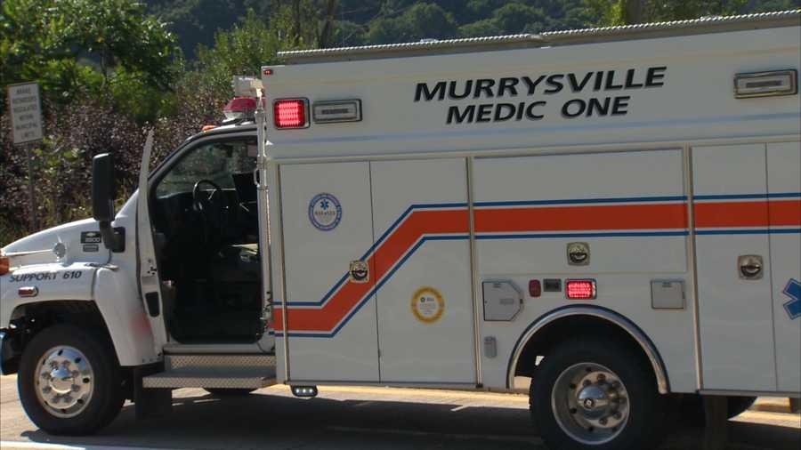 An ambulance from Murrysville Medic One.