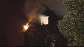 Two houses were destroyed by a fire in the South Oakland section of Pittsburgh.