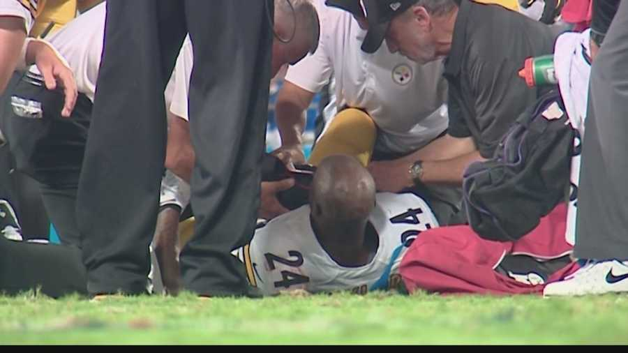 Trainers immediately rushed to Taylor's aid while he laid on the turf after the hit.