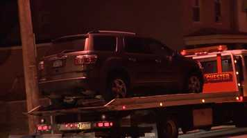 A vehicle was towed from the scene of the fatal bar shooting in Homewood.