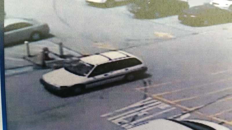 Police said this is a surveillance image of the suspect's vehicle. Anyone who has a tip is asked to call state police in Greensburg.
