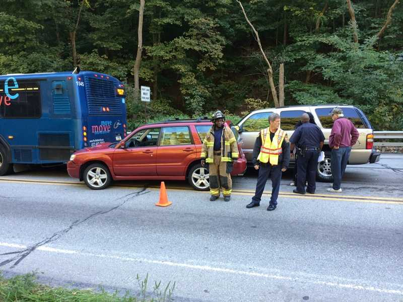 A car and a Port Authority bus were involved in a crash Tuesday morning on Mifflin Road near Lebanon Road in West Mifflin.