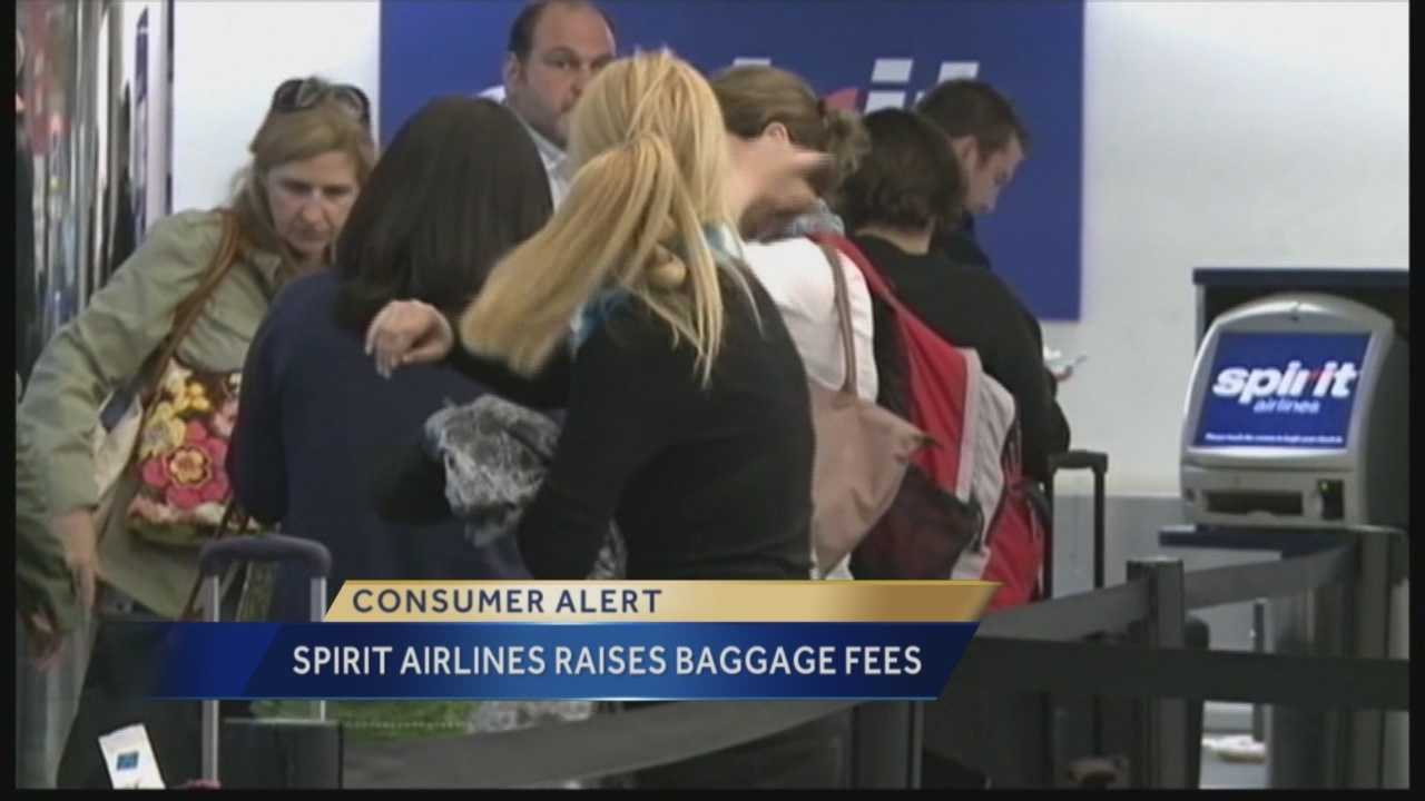 Pittsburgh's Action News 4's Andew Stockey has the latest on the plans by Spirit Airlines to raise their baggage fees as we head into the busy holiday travel season.