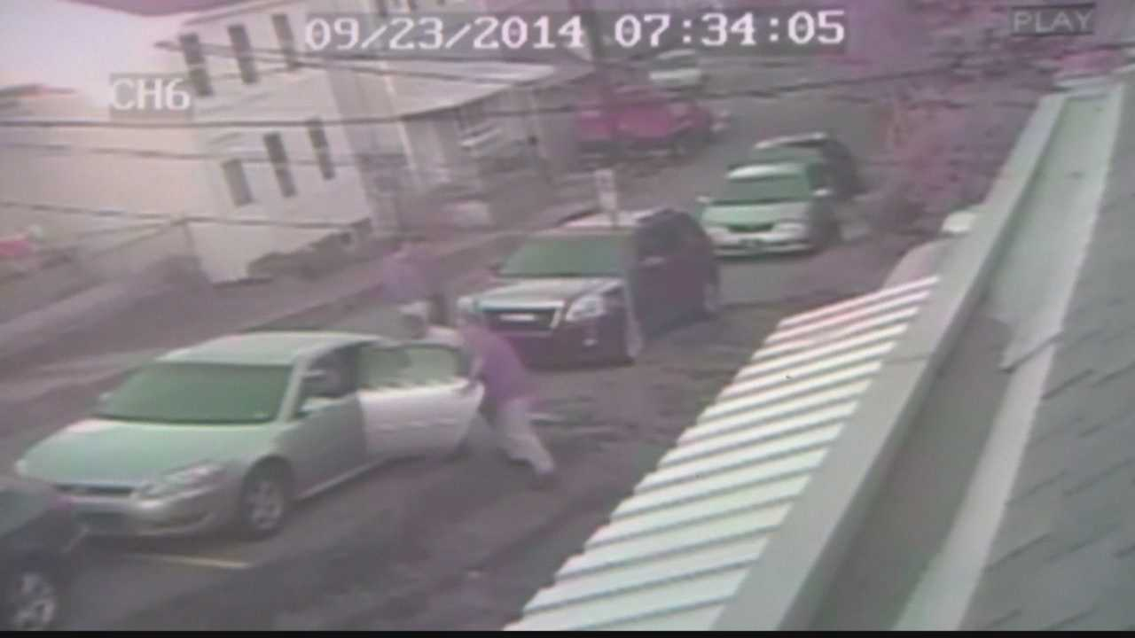 Surveillance video shows Matthew Sokol being taken into custody at his home in the South Side Slopes.