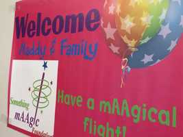 The Something mAAgic Foundation®'s 19th annual  mAAgicSM flight kicked off Friday with a fun-filled gate celebration at Pittsburgh International Airport (PIT). This year's mAAgic flight sent 14-year-old Madison's from Kennerdell, P.A., along with 35 other children with life-threatening medical conditions on a unique mAAgical experience to Orlando, Fla.