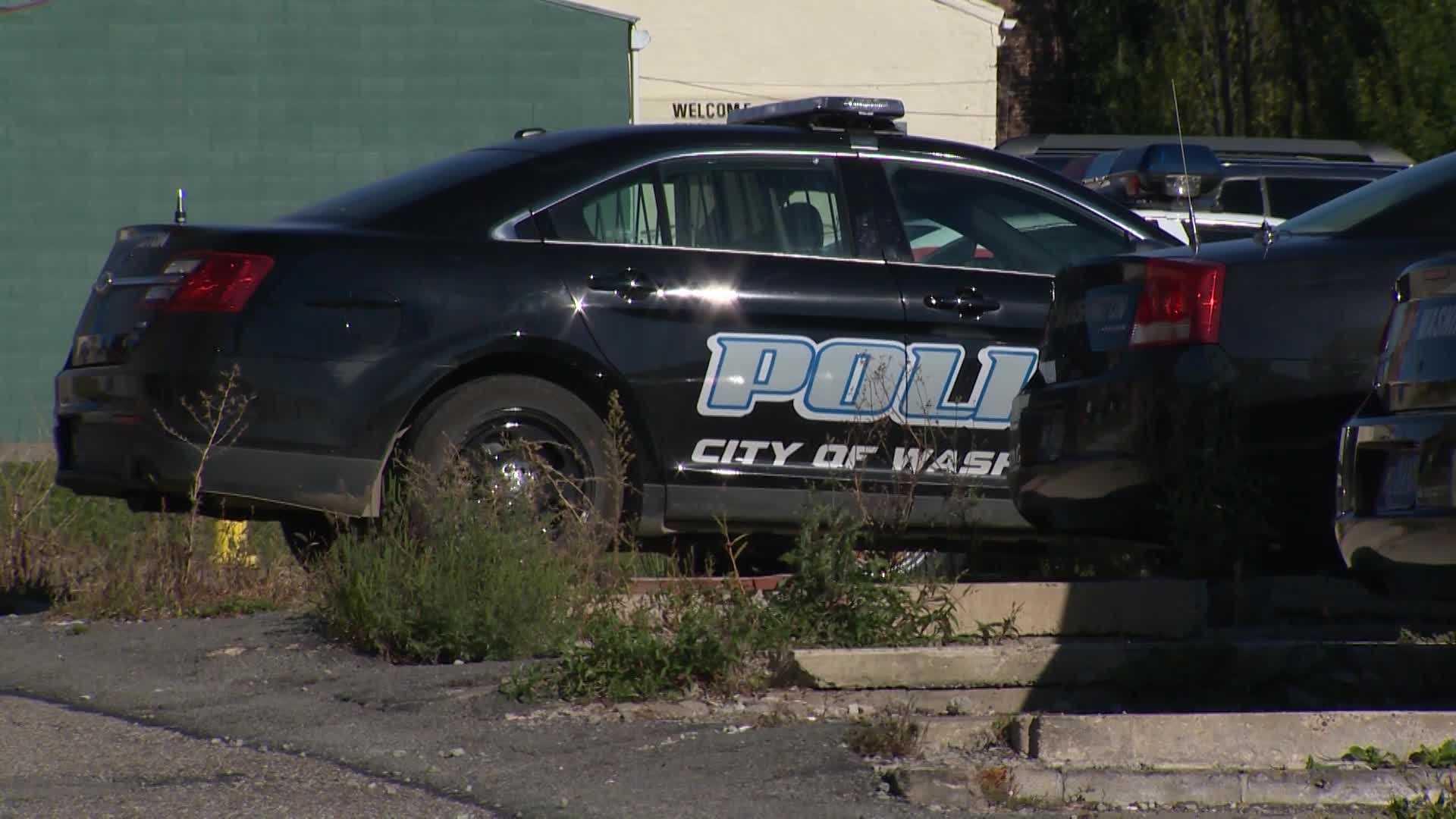 A Washington city police car