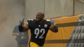 James Harrison played in his first game after returning to the Steelers and ending his brief retirement.