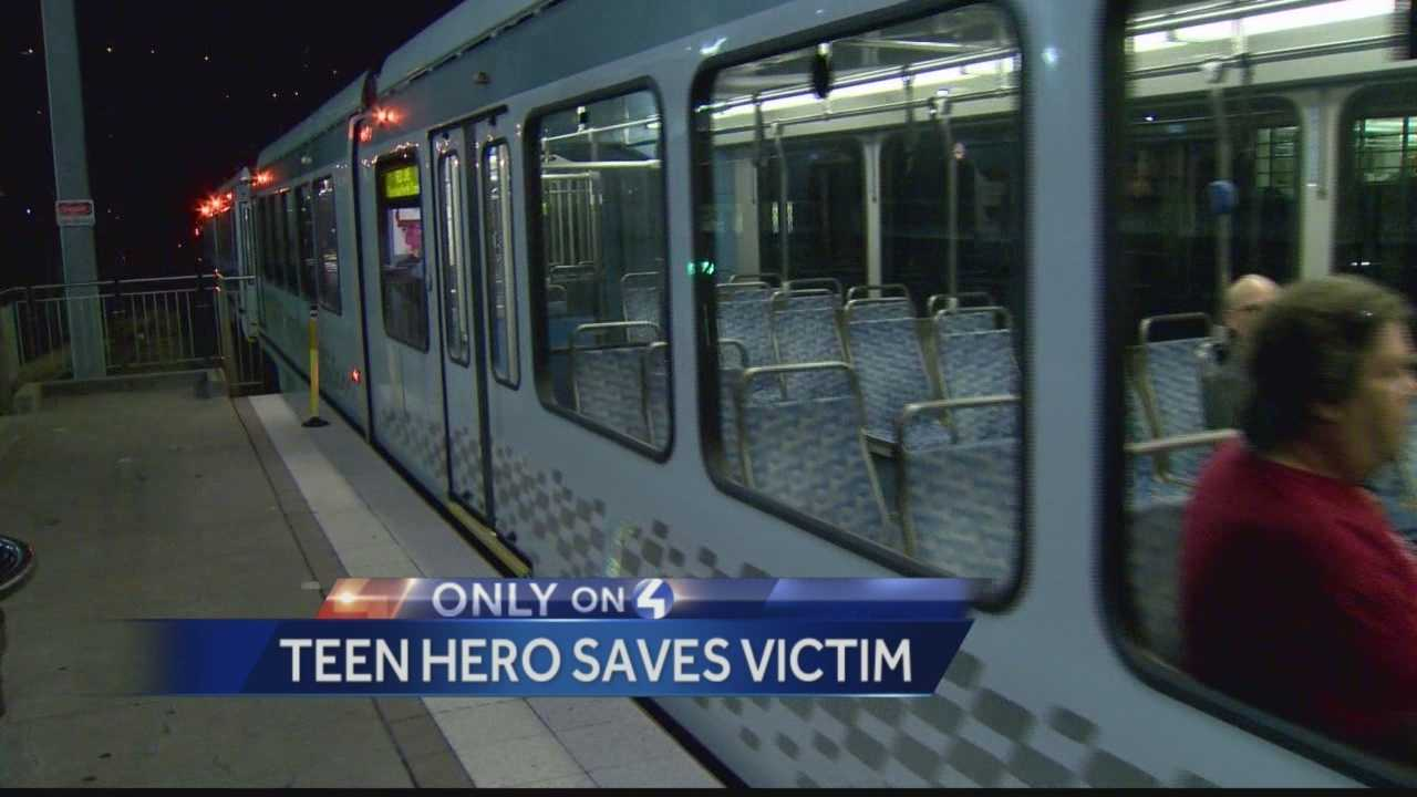 Pittsburgh's Action News 4's Michelle Wright has the latest on the efforts of local teen, Alex Hartman, who stopped to help a man who had become pinned/crushed by a T-Train