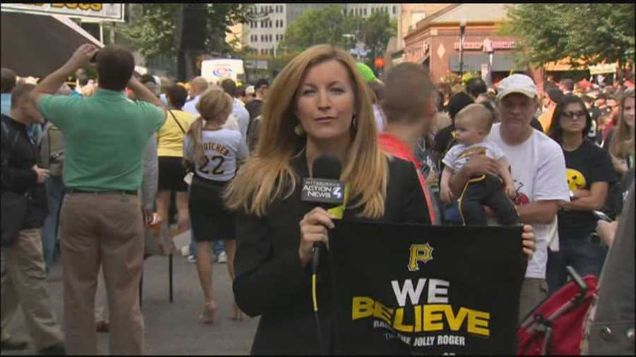 "The Pirates rally towel says it all: ""We Believe"" and ""Raise The Jolly Roger."""