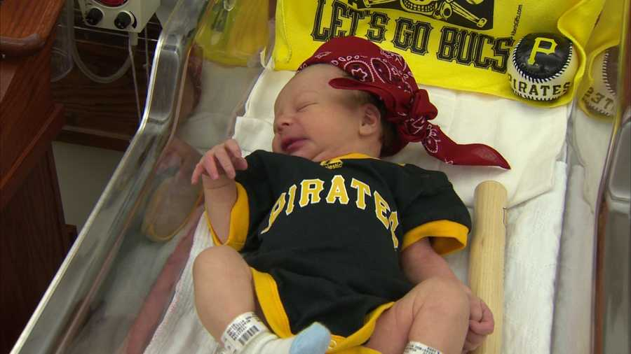 The babies also had tiny yellow Jolly Roger blankets.