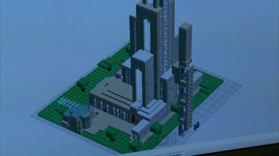 Josh Hall found a 3-D computer model of the Cathedral of Learning and rebuilt the iconic Pittsburgh structure in Legos to win a contest.
