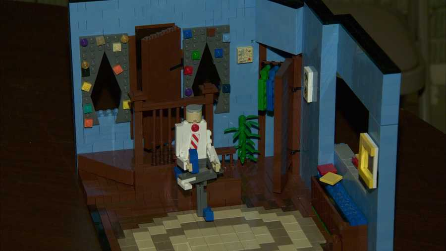 """A Lego version of the """"Mister Rogers' Neighborhood"""" set."""