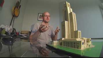 Josh Hall built a Lego Cathedral of Learning.