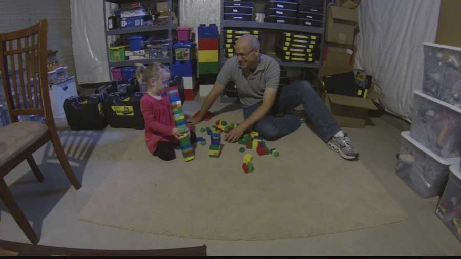 Josh Hall, 31, loves to play with Legos. He was reintroduced to his childhood toy at age 26.