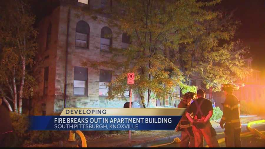 A fire at the Rochelle Towers Apartments in Knoxville displaced several residents early Thursday morning.