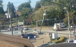 The corner of Saltsburg and Hulton roads in Penn Hills.