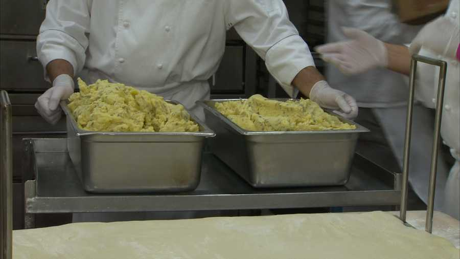 How much potato filling is needed for the world's biggest pierogie?