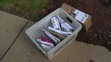 A postal inspector said most of the mail was still in the vehicle when police arrived.