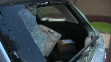 Mail was stolen from a letter carrier's vehicle that had its windows broken Wednesday in the Hill District.