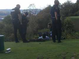 A picture of the suspect in the wild scene at Grand View Golf Course.