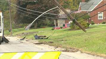 Duquesne Light crews were called to repair downed wires.