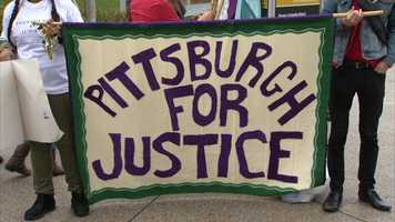 "A group called Pittsburgh for Justice organized a protest against Columbus Day and what it calls ""the terrible legacy of racism and oppression"" that the holiday represents."